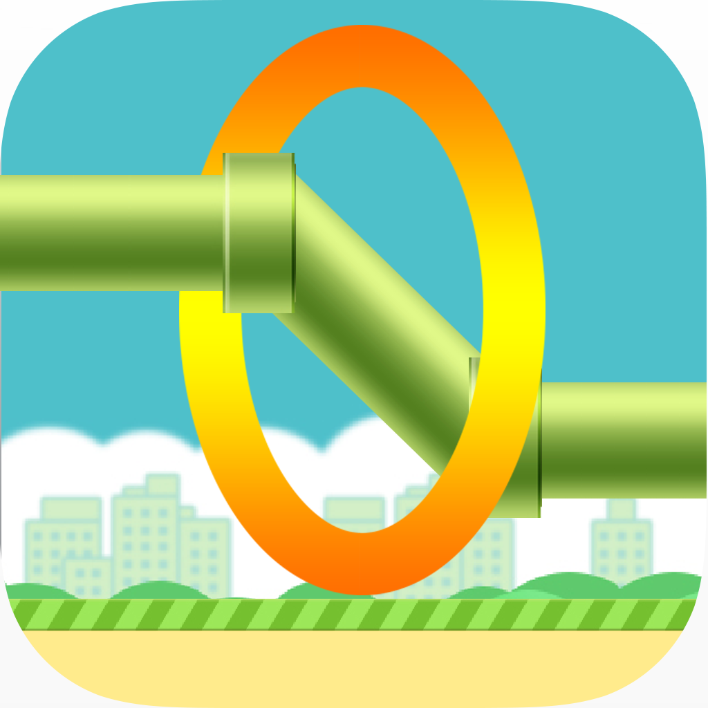 Flappy Circle Flinch - Don't Stop Through The Ring ! iOS App