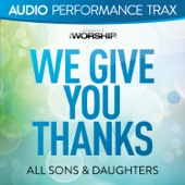 We Give You Thanks (Audio Performance Trax) - EP cover art