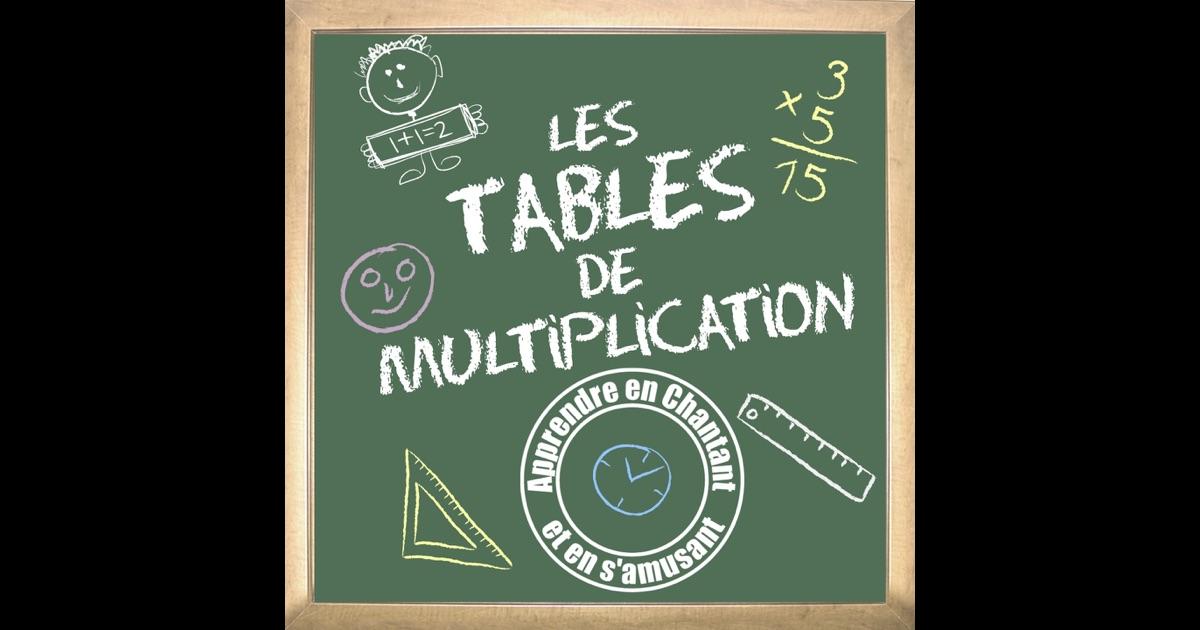 apprendre les tables de multiplication en chantant de bezu et la classe sur apple