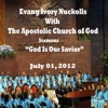 God Is Our Savior (July 01, 2012) [feat. Evang Ivory Nuckolls], Apostolic Church of God, Evang Ivory Nuckolls & The Santuary Choir