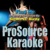 Find Me (Originally Performed By Sigma & Birdy) [Instrumental] [Free mp3 Download songs and listen music]