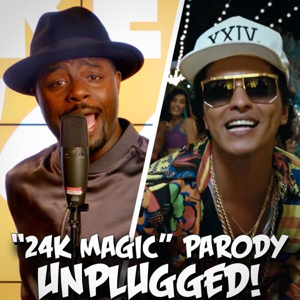 24K Magic Parody of Bruno Mars 24K Magic - Unplugged - Single The Key of Awesome CD cover