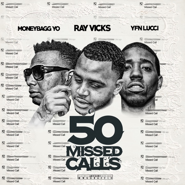 50 Missed Calls - Single Ray Vicks Moneybagg Yo  YFN Lucci CD cover