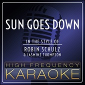 Sun Goes Down (In the Style of Robin Schulz & Jasmine Thompson) [Instrumental Version]