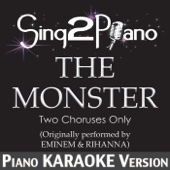The Monster (Two Choruses Only) [Originally Performed By Rihanna & Eminem] [Piano Karaoke Version]