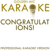 Congratulations! (In the Style of Cliff Richard) [Karaoke Version]