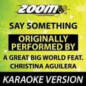 Say Something (Karaoke Version)