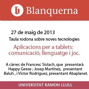 Aplicacions per a tablets: Comunicació, llenguatge i joc.