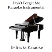 Don't Forget Me (Karaoke Instrumental) [In the Style of Katharine McPhee in Smash]