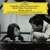 Prokofiev: Piano Concerto No. 3 in C Major, Op. 26 - Ravel: Piano Concerto in G Major, M.83; Gaspard de la nuit, M. 55 - Martha Argerich, Berlin Philharmonic & Claudio Abbado Cover Art