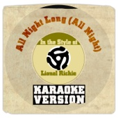 All Night Long (All Night) [In the Style of Lionel Richie] [Karaoke Version]