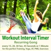 Workout Interval Timer: Recurring Gong for the Perfect Training, Yoga, AT, PME, Exercises - Every 15, 20, 30 Sec, 45 Seconds or 1 Minute