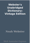 Similar eBook: Webster's Unabridged Dictionary: Vintage Edition