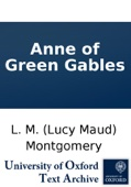 L.M. Montgomery - Anne of Green Gables  artwork
