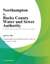 Northampton V Bucks County Water And Sewer Authority