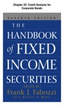 The Handbook Of Fixed Income Securities Chapter 32 - Credit Analysis For Corporate Bonds