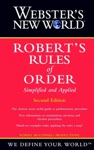 Websters New World Roberts Rules Of Order Simplified And Applied 2nd Edition