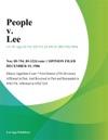 People V Lee