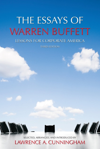 the essays of warren buffett amazon Buy the essays of warren buffett by warren buffett, lawrence s cunningham (isbn: 9781876627089) from amazon's book store everyday low.