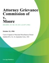 Attorney Grievance Commission Of V Moore