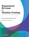 Department Revenue V Moebius Printing