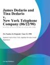 James Dedario And Tina Dedario V New York Telephone Company