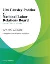 Jim Causley Pontiac V National Labor Relations Board
