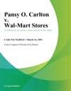 Pansy O Carlton V Wal-Mart Stores