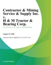 Contractor  Mining Service  Supply Inc V H  M Tractor  Bearing Corp