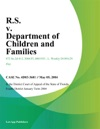 RS V Department Of Children And Families