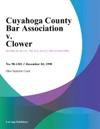 Cuyahoga County Bar Association V Clower