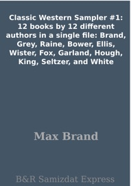 CLASSIC WESTERN SAMPLER #1: 12 BOOKS BY 12 DIFFERENT AUTHORS IN A SINGLE FILE: BRAND, GREY, RAINE, BOWER, ELLIS, WISTER, FOX, GARLAND, HOUGH, KING, SELTZER, AND WHITE