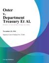 Oster V Department Treasury Et Al