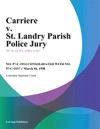 Carriere V St Landry Parish Police Jury