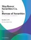 Mayflower Securities Co V Bureau Of Securities