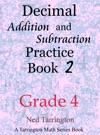 Decimal Addition And Subtraction Practice Book 2 Grade 4