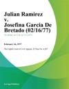 Julian Ramirez V Josefina Garcia De Bretado