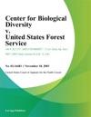 Center For Biological Diversity V United States Forest Service