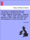 The Basis Or Standard For The New County Rate Or Assessment For The County Palatine Of Lancaster  Allowed  29th  March 1877 With The Basis As Allowed In 1854 1866 And 1872 And The Population Of Each Township Etc