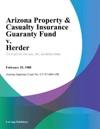Arizona Property  Casualty Insurance Guaranty Fund V Herder