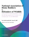 National Association Of Home Builders V Defenders Of Wildlife