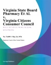 Virginia State Board Pharmacy Et Al V Virginia Citizens Consumer Council