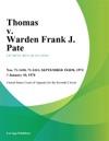 Thomas V Warden Frank J Pate