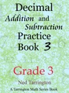Decimal Addition And Subtraction Practice Book 3 Grade 3