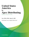 United States America V Apex Distributing