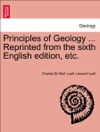 Principles Of Geology  Reprinted From The Sixth English Edition Etc Vol I