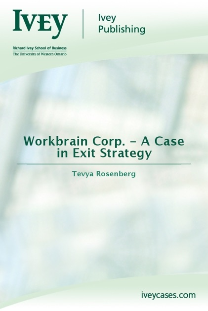 workbrain corp a case in exit strategy 2016-3-26 workbrain corp a case in exit strategy- richard ivey school of business -harvard and ivey best case study solutions.