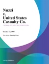Nuzzi V United States Casualty Co