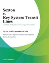 Sexton V Key System Transit Lines