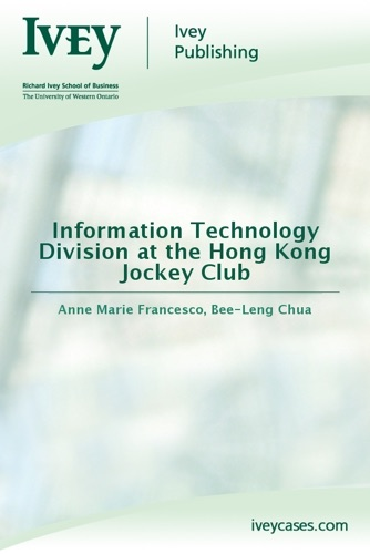Information Technology Division at the Hong Kong Jockey Club